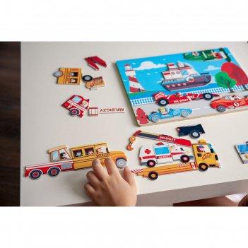 Магнитная игра mr. bigzy «транспорт»