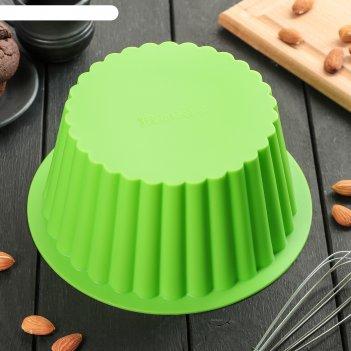 Форма для выпечки из силикона ретро 18*10 см, цвет микс