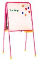 Мольберт двухсторонний дэми, с магнитными буквами, цифрами и знаками, цвет