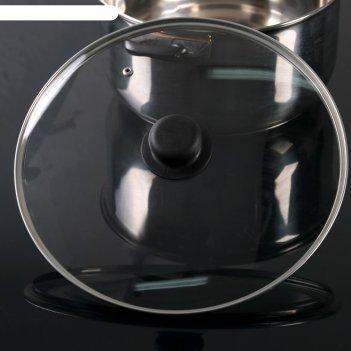 Крышка стеклянная d=28 см, с пластиковой ручкой