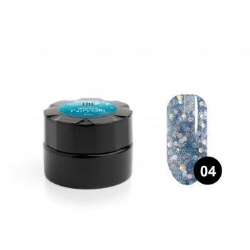 Гель для дизайна ногтей tnl winter fairytale №4 сияющий иней, 6 мл