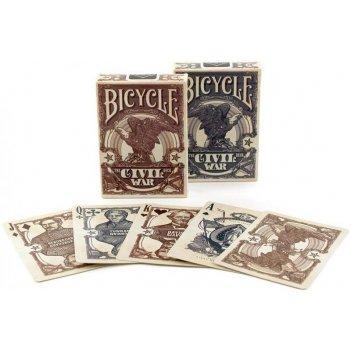 Карты игральные коллекционные bicycle civil war brown/blue 88х63мм
