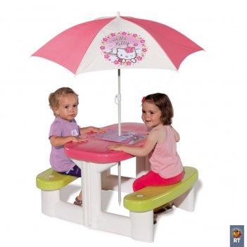 310256 столик для пикника с зонтиком hello kitty