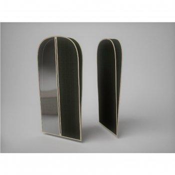 Чехол объемный для одежды малый «классик чёрный», 60х100х10 см