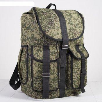 Рюкзак молодежный большой камуфляж, 1 отдел, 3 наружных кармана, цвет хаки