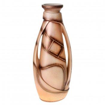 Ваза напольная форма венеция абстракция, коричневая