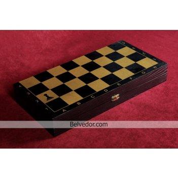 Шахматы тонированные черное золото