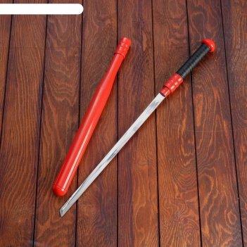Сувенирный меч, в виде биты, ножны красный металл. футляр, 61см