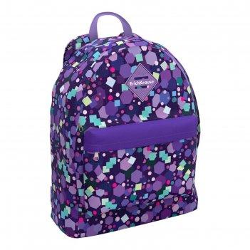 Рюкзак молодежный erich krause easyline 39*29*13 дев 17l candy, фиолетовый