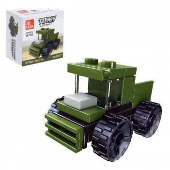 Конструктор военные грузовик, 18 деталей