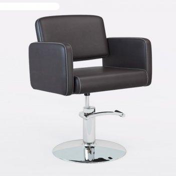 Парикмахеское кресло manzano (гидравлика),.perfetto, цвет шоколадный