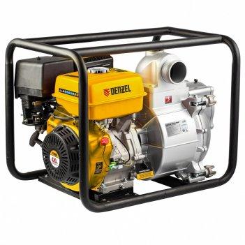 Мотопомпа бензиновая для грязной воды px-80d, 15 л.с, 3, 1500 л/мин, глуби