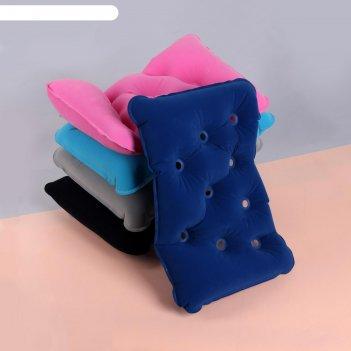 Подушка дорожная надувная вентилир 39*25*8,5см микс пакет от