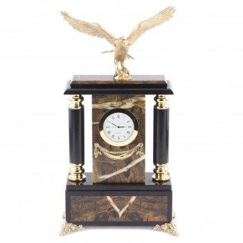 Часы орел камень яшма 200х90х370 мм 5000 гр.