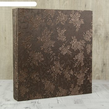Фотоальбом магнитный 20 листов пышные ветви кожзам тиснение 35х33х6 см