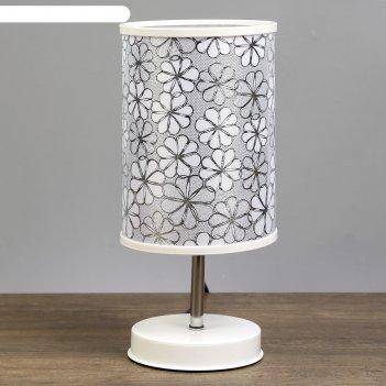 Лампа настольная ромашки 1x60вт e27 белый 14,5х14,5х30 см.
