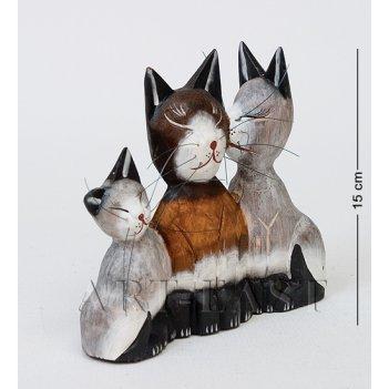 В1-0416 статуэтка кошки семья
