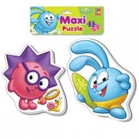 Пазлы мягкие baby puzzle макси смешарики крош и ёжик
