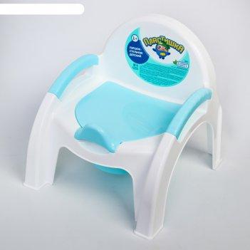 Горшок-стульчик, цвет голубой