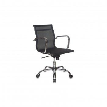 Кресло руководителя ch-993-low/m01 низкая спинка, черный, сетка m01