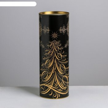 Тубус под бутылку «новогоднее настроение», 12 х 34 см