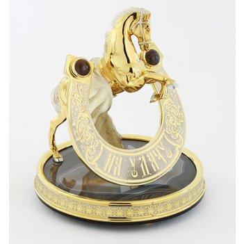 Сувенир подкова на удачу  агат арт.3806