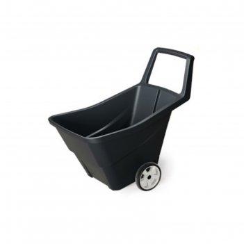 Тачка садовая, двухколёсная, 85 л, пластик, цвет чёрный