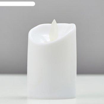 Ночник пластик восковая свеча от батареек cr2032x2 5,3х5,3х7,2 см
