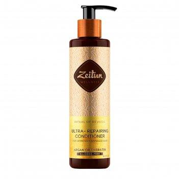 Бальзам-кондиционер для волос zeitun «ритуал восстановления», для поврежде