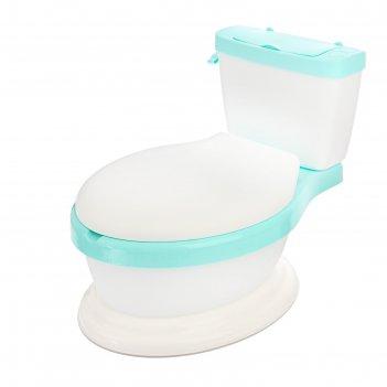 Горшок-унитаз детский, с мягким сиденьем, цвет бирюзовый