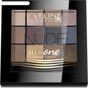 Тени для век eveline all in one № 01 nude, 12 оттенков