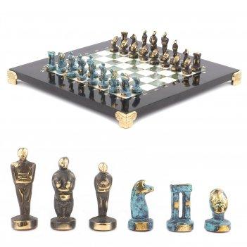 Шахматы идолы доска 280х280 мм мрамор офиокальцит металл