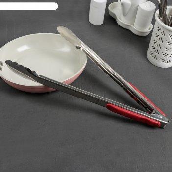 Щипцы кухонные «универсал», 33 см, с прорезиненной ручкой, цвет микс