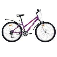 Велосипед 26 foxx bianka, 2018, цвет фиолетовый/оранжевый, размер 15