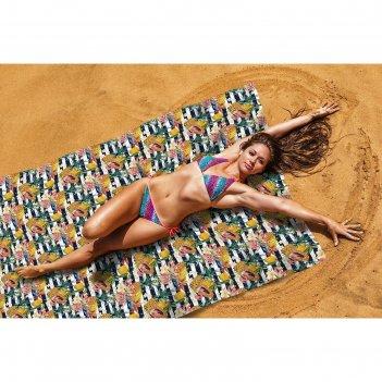 Пляжное покрывало «тропические фрукты», размер 145 x 200 см
