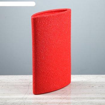 Ваза стиль шёлк, красная, 24 см