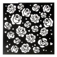 Трафарет для творчества розы, 15х15 см