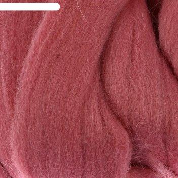 Шерсть для валяния 100% полутонкая шерсть 50 гр (270 клевер)