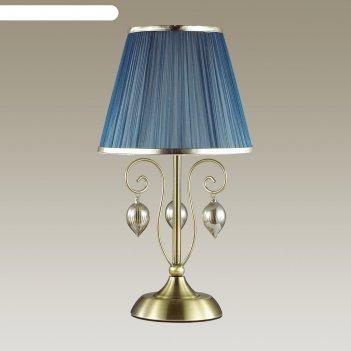 Настольная лампа niagara 1x40вт e14 бронза 25x25x58,8см