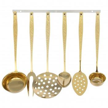 Набор кухонный уралочка, 6 предметов, с полным декоративным покрытием, тол