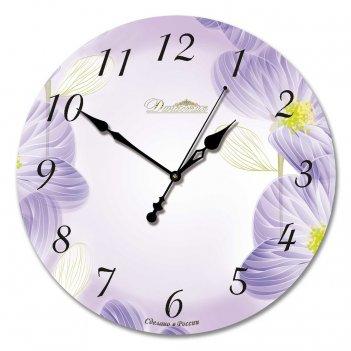Настенные часы из стекла династия 01-002 весеннее настроение