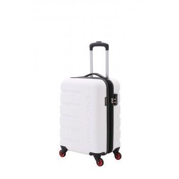 Чемодан swissgear tyler, белый, абс-пластик, 35 x 25 x 55 см, 37 л