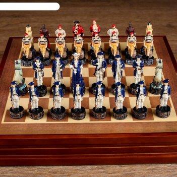 Шахматы сувенирные пиратская схватка (доска 36х36х6 см, король h=8 см, пеш
