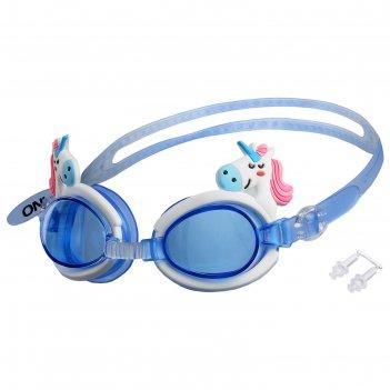 Очки для плавания, детские единорог микс