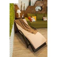 Шезлонг uels, 170 х 75 х 75 см, с подушкой, плетение 8-11 мм, цвет коричне