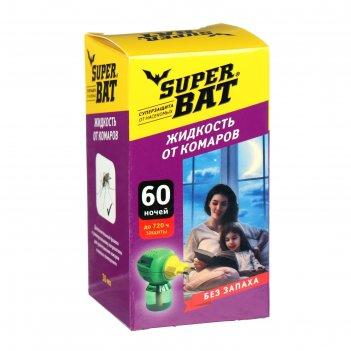 Жидкость от комаров superbat ,  доп. флакон, 60 ночей, 45 мл.