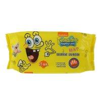Влажные салфетки губка боб детские, освежающие, 72 шт