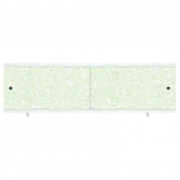 Экран под ванну кварт зеленый иней, 168 мм
