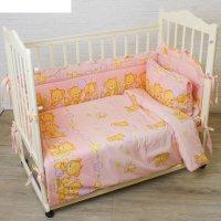 Комплект в кроватку (4 предмета), цвет розовый 7215 роз