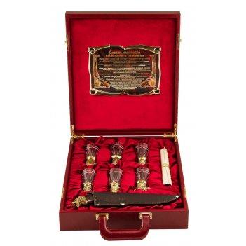 Подарочный набор охотничий в кейсе, большой, стекл. чарки, арт. пнос-55ш
